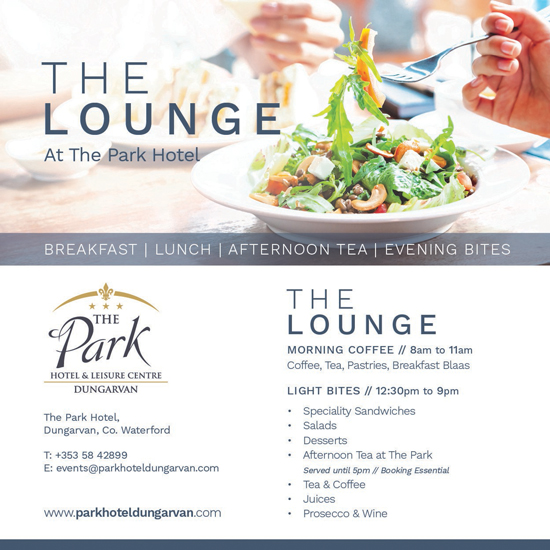 lounge Park Hotel Dungarvan Waterford place to eat